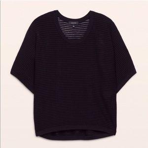 Aritzia Babaton Short Sleeve Donald Sweater blouse